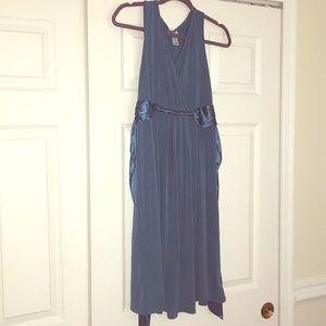 Motherhood Maternity teal blue dress